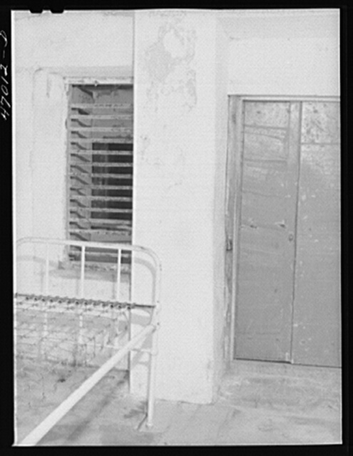 Frederiksted, Saint Croix Island, Virgin Islands. One of the cells for the insane at the Frederiksted hospital