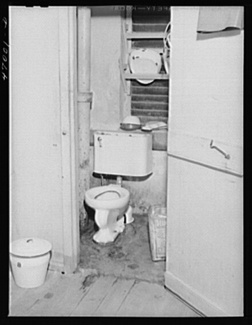 Frederiksted, Saint Croix Island, Virgin Islands. Toilet for the women's ward in Frederiksted hospital