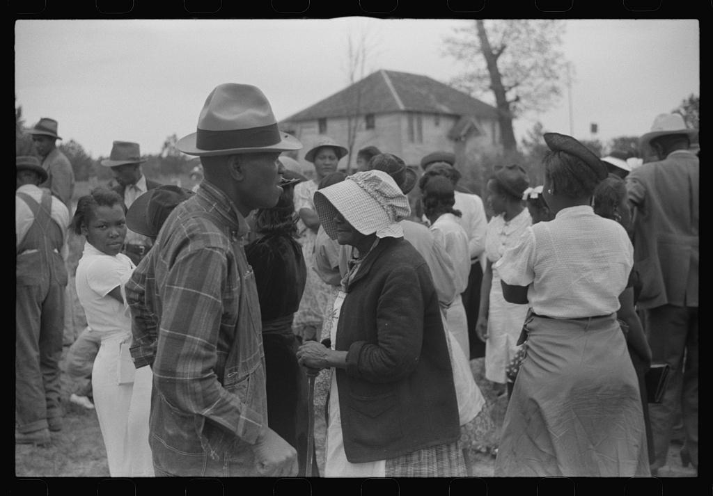 Funeral of nineteen year old Negro sawmill worker in Heard County, Georgia