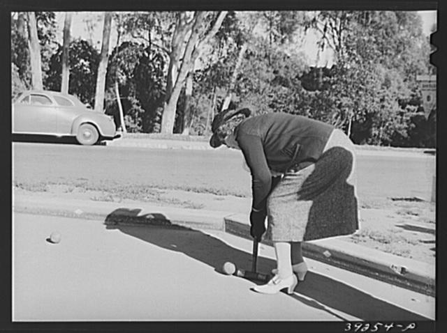 Game of vogue. Balboa Park, San Diego, California
