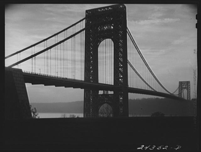 George Washington Bridge from New York City side