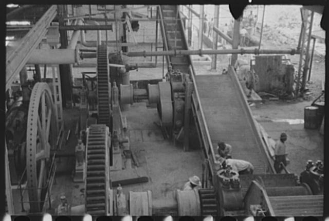 Getting machinery ready for the grinding season, Bethlehem Sugar Mill, St. Croix Island, Virgin Islands