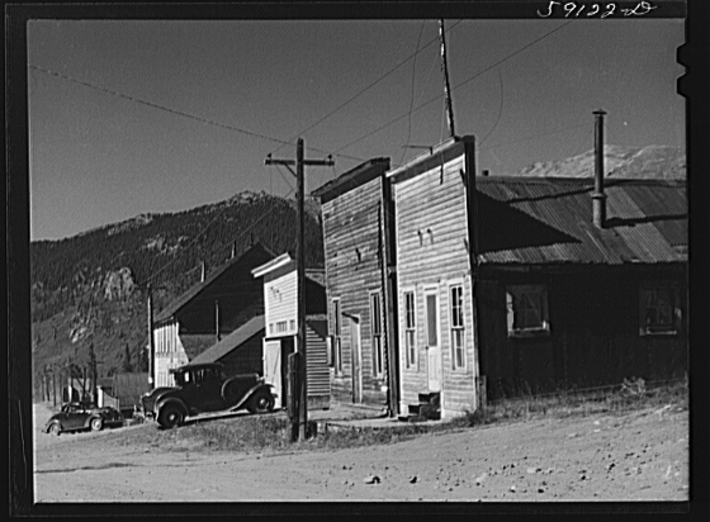 Ghost mining town coming to life because of defense mining boom. Montezuma, Colorado