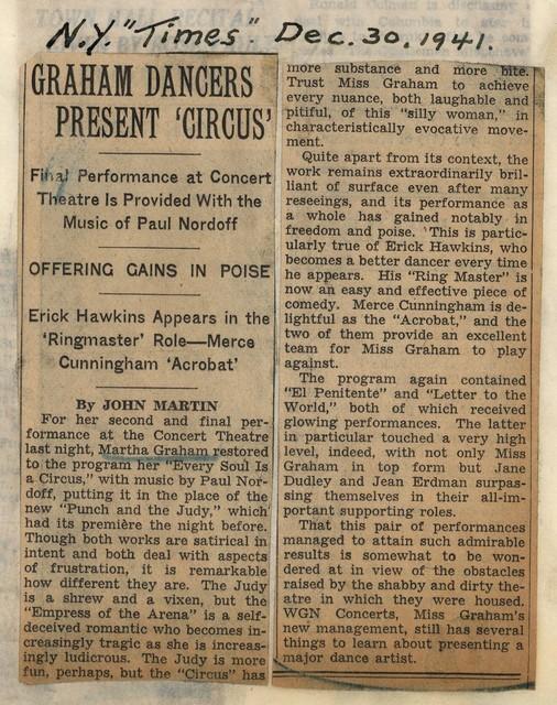 """Graham Dancers Present """"Circus"""""""
