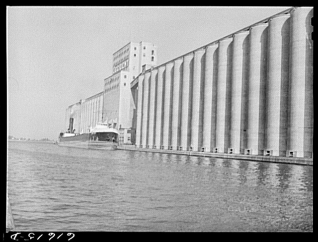 Grain boat loading at Occident elevator. Duluth, Minnesota