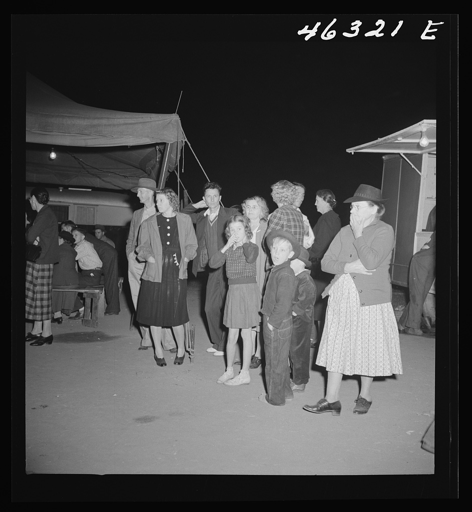Greensboro, Georgia. The Greene County fair in the evening