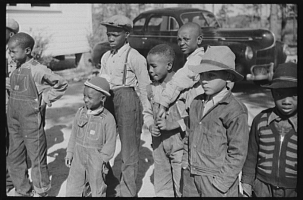 Greensboro (vicinity), Greene County, Georgia. Boyd Jones during recess at a Negro school