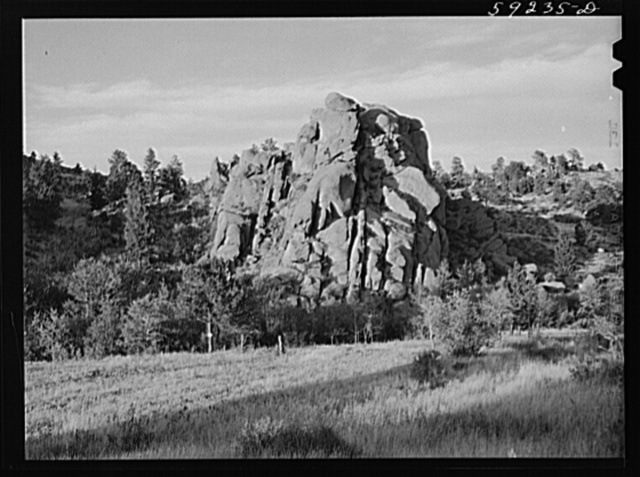 Grotesque limestone formations on ranch near Buford, Wyoming