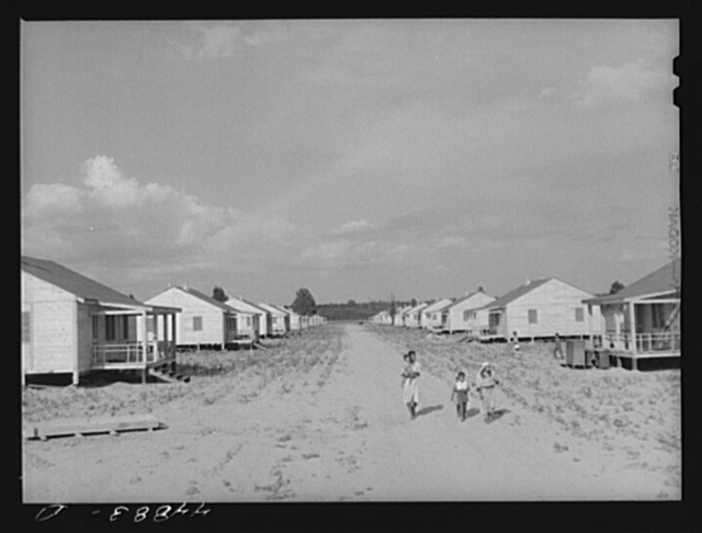 Group of prefabricated houses for Negroes built by FSA (Farm Security Administration) to take care of some of the families who had to move out of the area taken over by the Army for maneuver grounds. Milford, Caroline County, Virginia