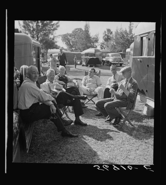 Guests at the Sarasota trailer park. Sarasota, Florida