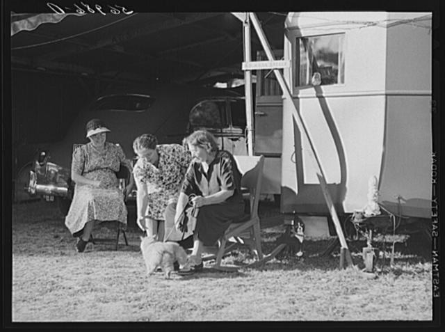 Guests in Sarasota trailer park. Sarasota, Florida