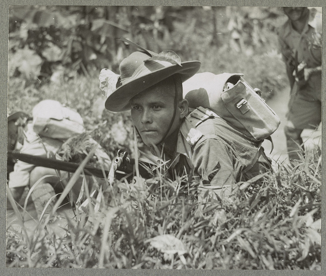 Gurkhas train in Malayan jungle The 9th Burkhas have had some extensive training recently in the Malayan gungle [i.e. jungle] ... photographed during the exercise.