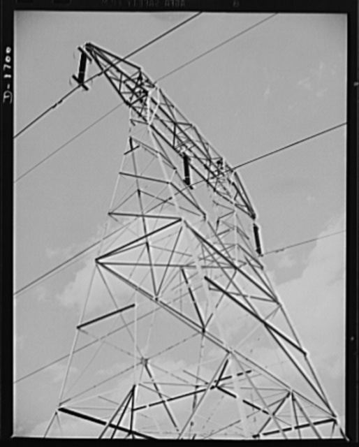 High tension pylon in western New Jersey