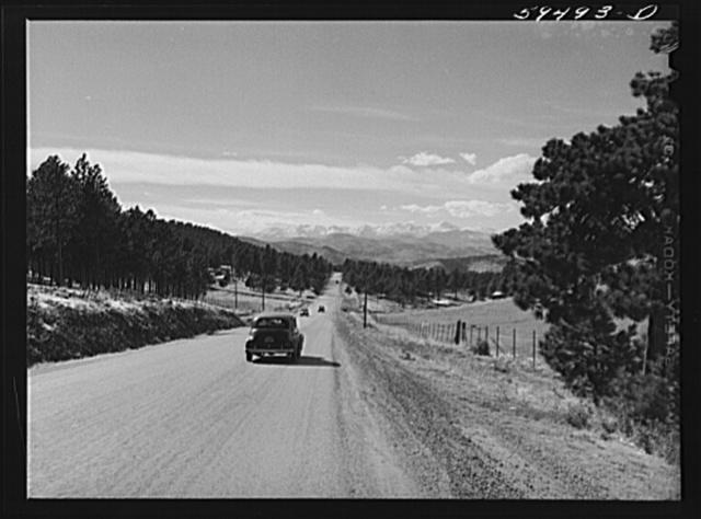 Highway from Denver to Idaho Springs, Colorado