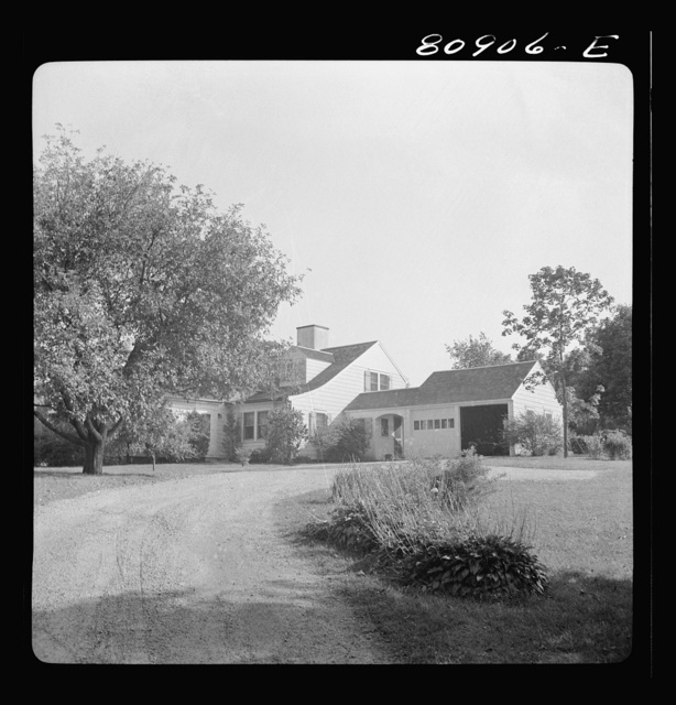 Home of advertising executive in Westport, Connecticut, who commutes every day to New York City by train