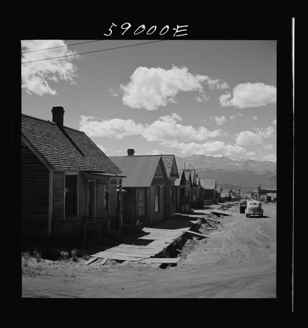 Homes in old mining town. Leadville, Colorado