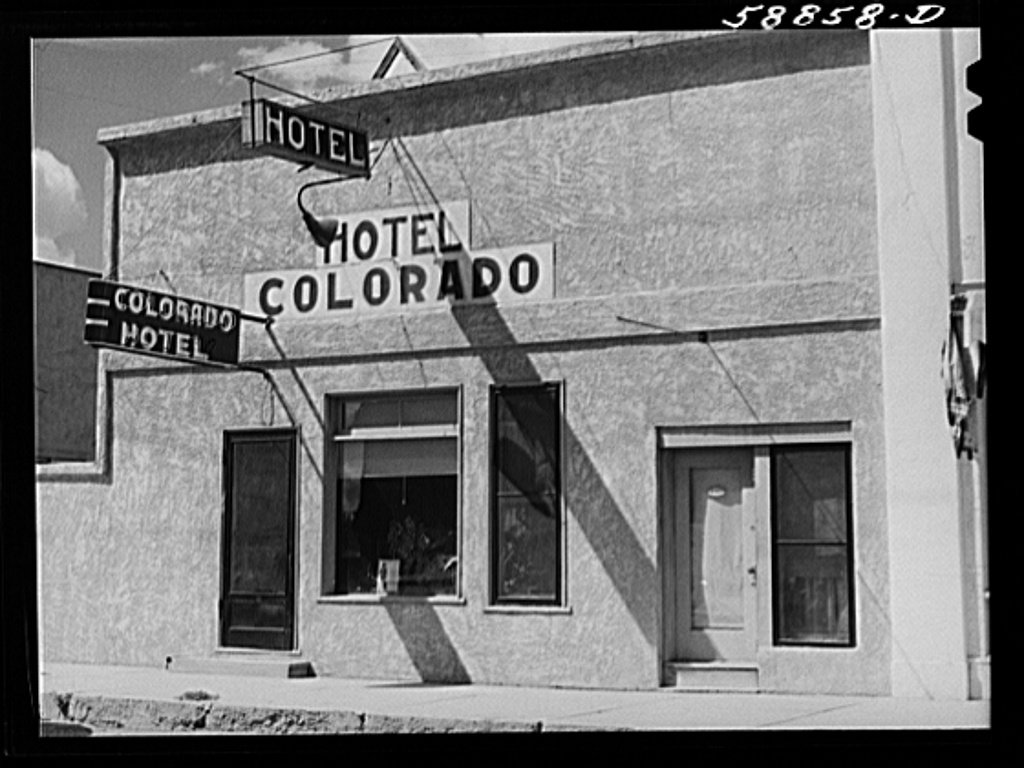 Hotel on main street of Craig, Colorado. A new and thriving boom town