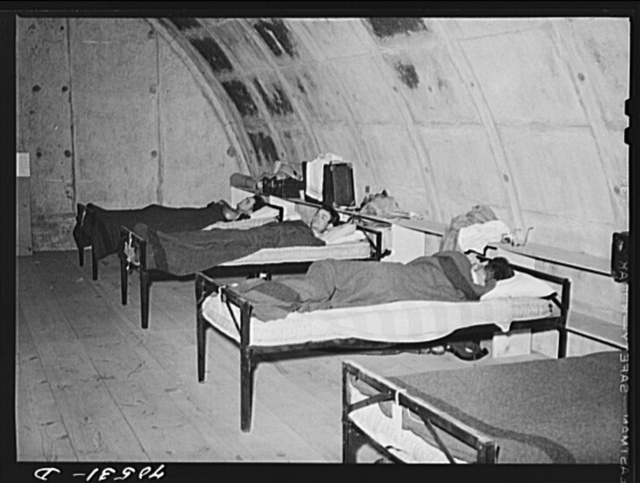 Housing conditions have been so acute at Hermiston, Oregon that authorities at the Umatilla ordnance depot have experimentally converted some igloos into housing quarters Satisfactory comment has been received from single workmen so housed