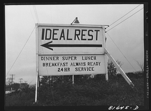 Ideal rest caters to the trucking trade. Near Little Falls, New York