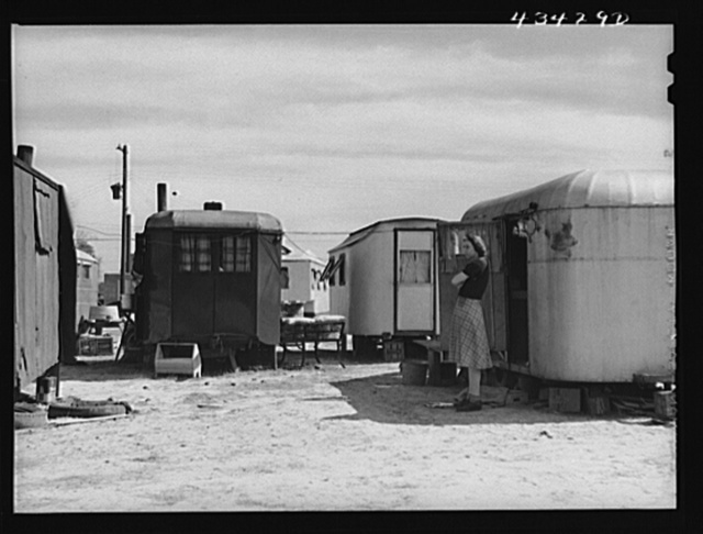 In a trailer camp of migrants working at Fort Bragg. Near Fayetteville, North Carolina