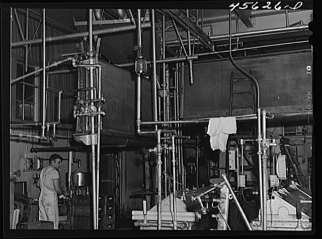 In the Burlington cooperative milk bottling plant at Burlington, Vermont