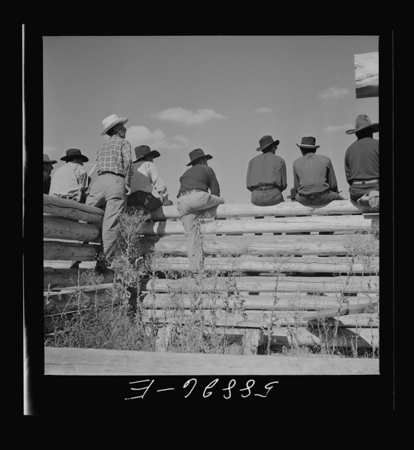 Indians and spectators at annual fair. Crow Agency, Montana
