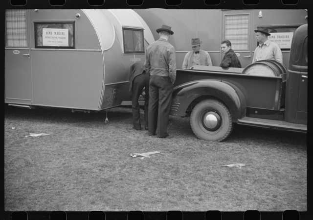 Inspecting FSA (Farm Security Administration) trailers