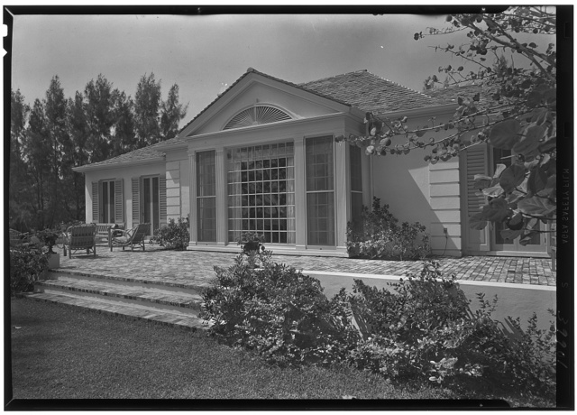 James H. McGraw, Jr., residence in Hobe Sound, Florida. Ocean facade, from right