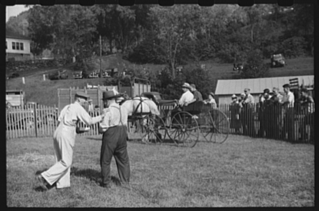 """Judges at the horse show at the """"World's Fair"""" in Tunbridge, Vermont"""