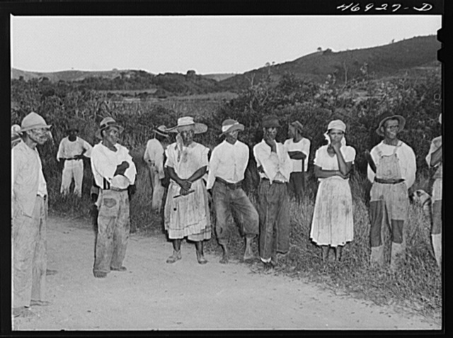 La Valle, Saint Croix Island, Virgin Islands. At a FSA (Farm Security Administration) group meeting