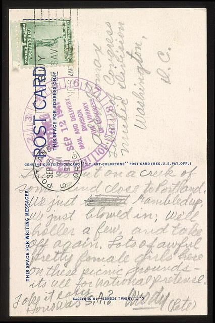Letter from Woody Guthrie to Alan Lomax, September 8, 1941