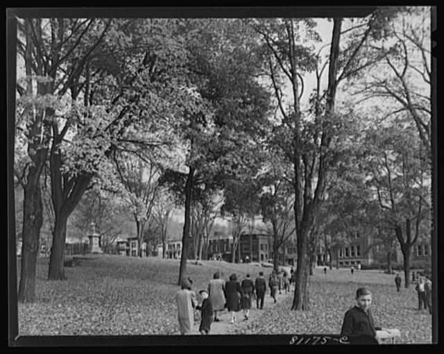 Little Falls, New York. Children on their way to school