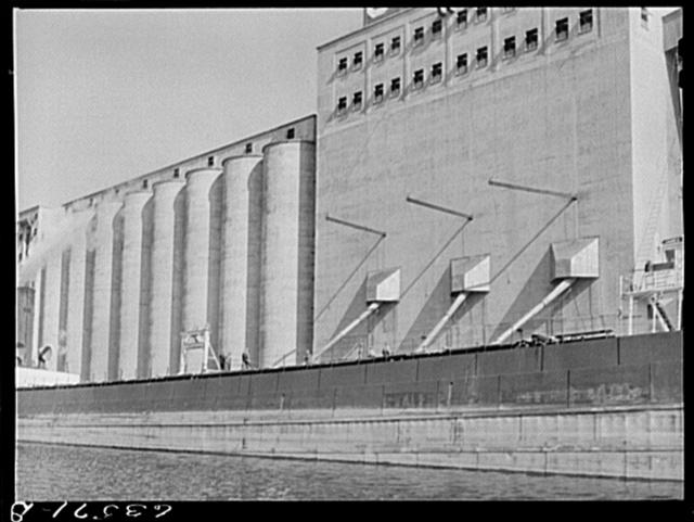 Loading grain boat at Occident elevator. Duluth, Minnesota