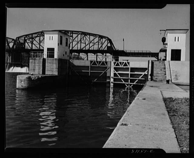 Lock Eleven on the Erie Canal at Amsterdam, New York