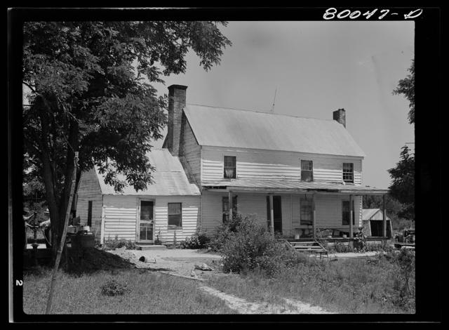 Long shot of the John Fredrick farmhouse. Saint Mary's County, Maryland