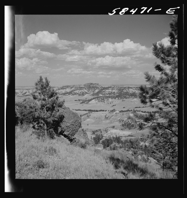 Looking over Lyman Brewster's lease and across range country. Near Lame Deer, Montana