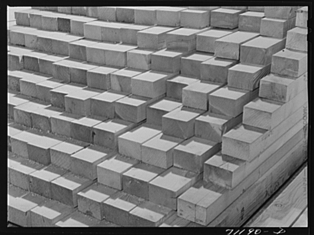 Lumber to be used in construction of Shasta Dam. Shasta County, California
