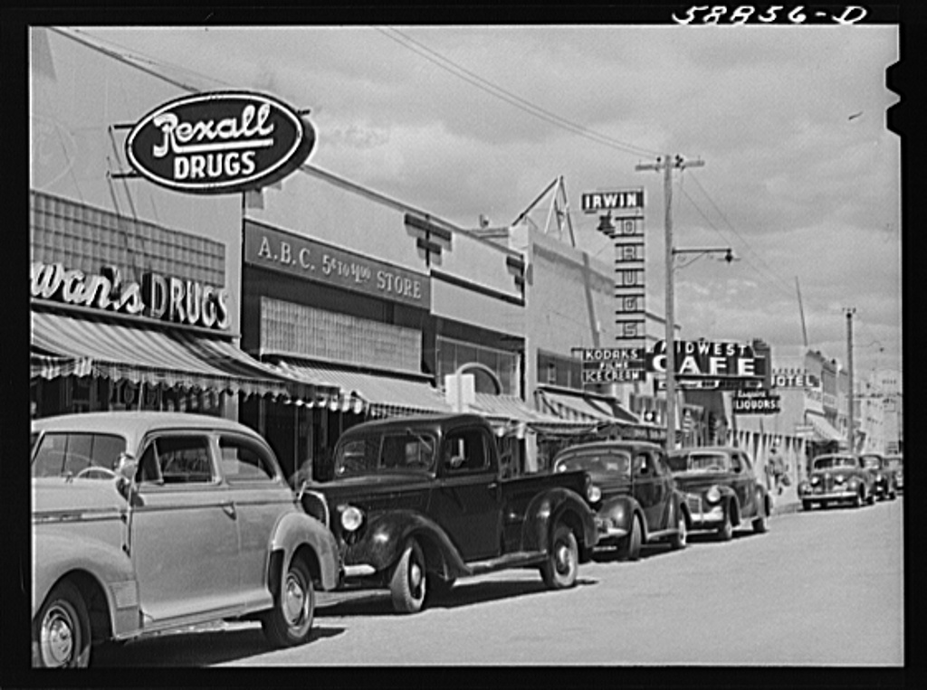 Main street of Craig, Colorado. A new and thriving boom town