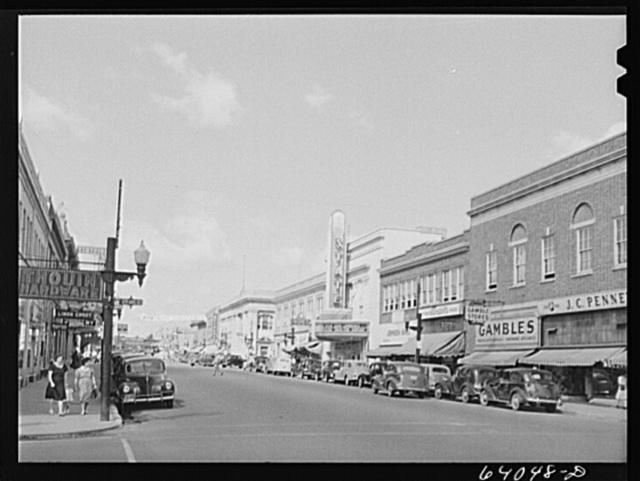 Main street of Hibbing, Minnesota