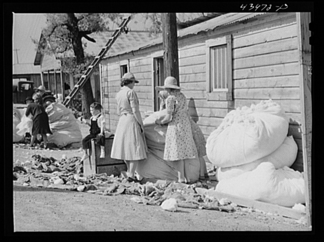 Making matresses from surplus cotton in Centralhatchee. Heard County, Georgia