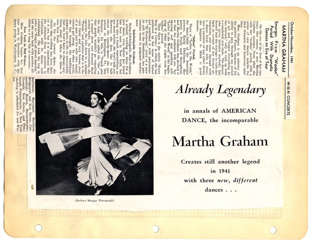 "Martha Graham Emerges From ""Woolen"" Period With Dramatic Dances on Eve of Tour"