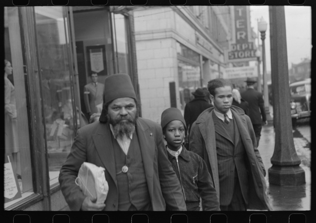 Members of the Moors, a Negro religious group of Chicago, Illinois