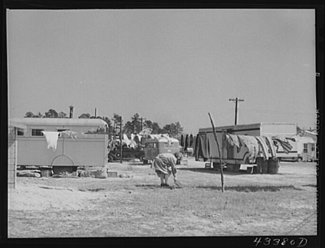 Migratory workers' trailer camp near Fort Bragg, North Carolina