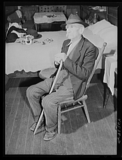 Mr. Bob Mullins, who receives old age pension, Penfield, Greene County, Georgia