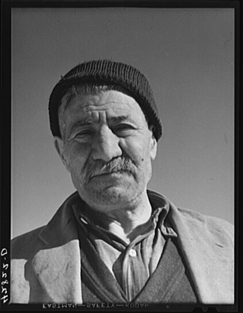 Mr. Hazar Loosigian, Armenian. Runs a small vegetable farm. The money his son makes on WPA (Work Projects Administration) helps the family thru the winter. West Andover, Massachusetts