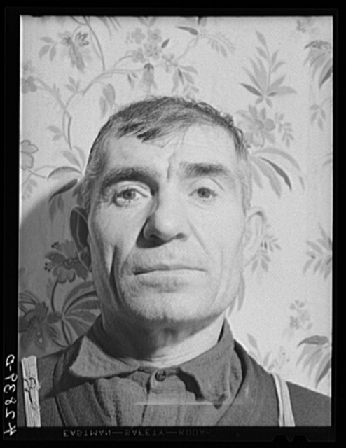 Mr. Ovegen Arakelian, Armenian vegetable farmer in West Andover, Massachusetts. Has eleven acres of land which does not produce enough to carry them thru the winter. A son tries to get work in the mills in nearby Lowell