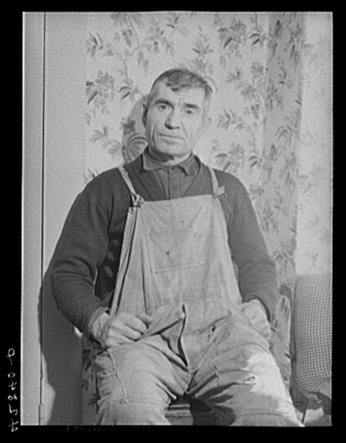 Mr. Ovegen Arakelian, Armenian vegetable farmer in West Andover, Massachusetts. Has eleven acre farm which is not sufficient to get them thru the winter months. Their son tries to get work in mills in Lowell, Massachusetts