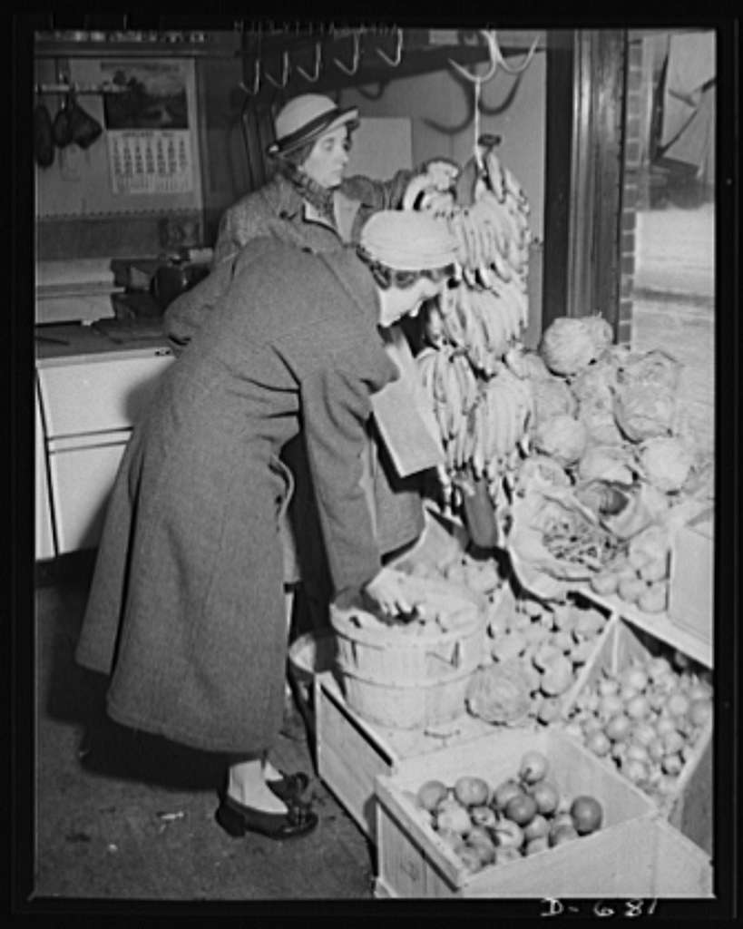 Mrs. Catherine Herbster budgets herself carefully. She buys those vegetables and food which are plentiful and cheap. She must see that her family of growing children get the right foods to make them strong and healthy