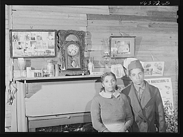 Mrs. Edgar Jones and her son, FSA (Farm Security Administration) clients near Woodville. Her son works at the Civilian Conservation Corps camp