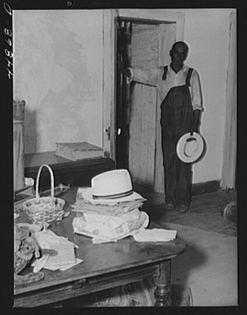 Negro farmer who is preparing to move out of the area in Caroline County that has been taken over by the Army for maneuver grounds. Virginia